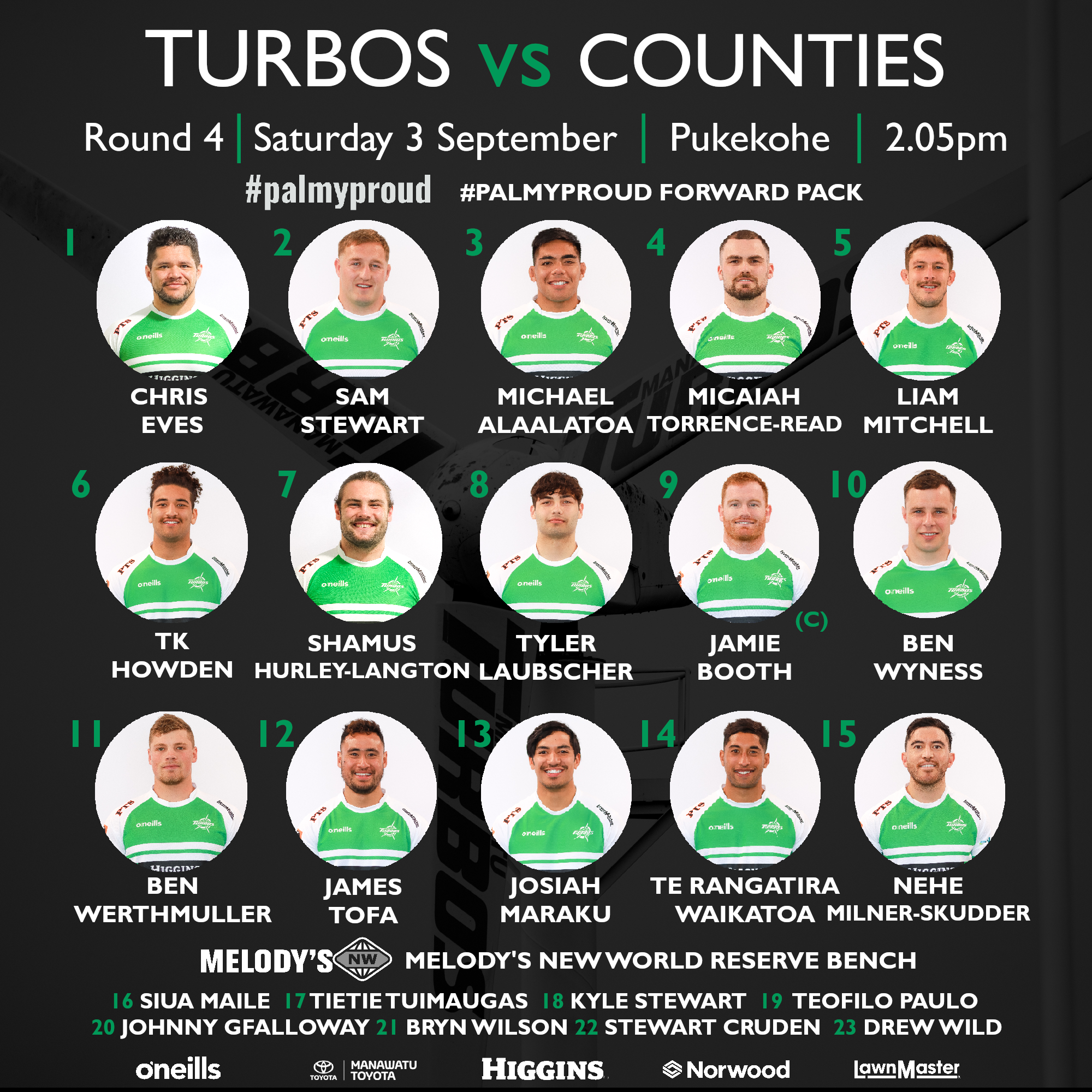 Fresh faces aplenty for Turbos